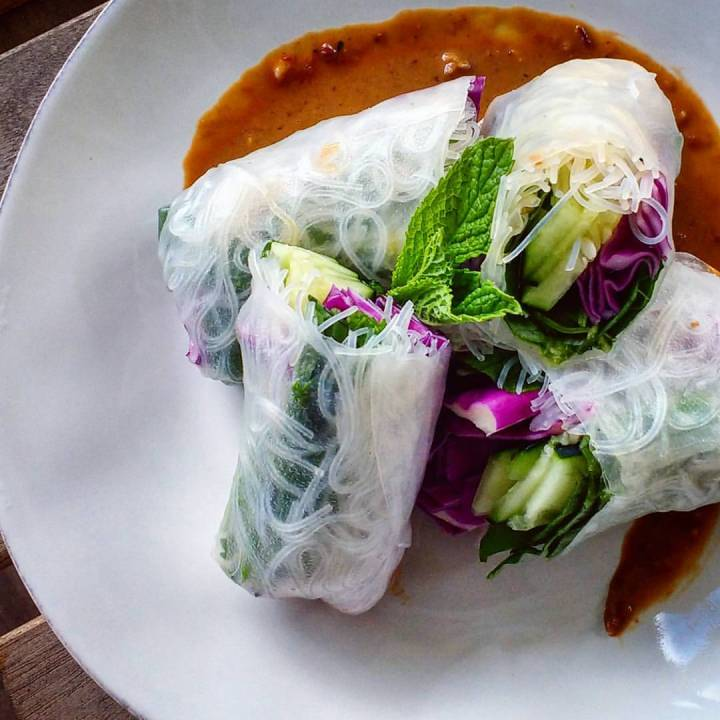 Vegan Vietnamese Summer Rolls with Peanut-Lime Dipping Sauce